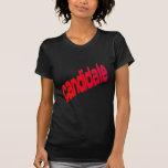 candidato camisetas