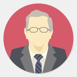 Candidato de la elección presidencial de Jeb Bush Pegatina Redonda