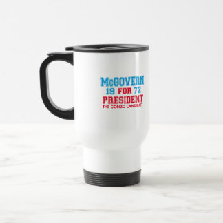 Candidato de McGovern Gonzo Taza De Viaje De Acero Inoxidable