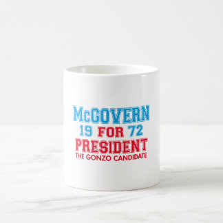 Candidato de McGovern Gonzo Taza Básica Blanca