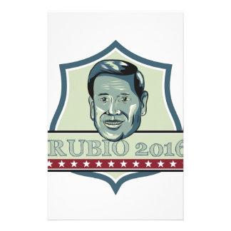 Candidato del republicano de Marco Rubio 2016 Papelería De Diseño