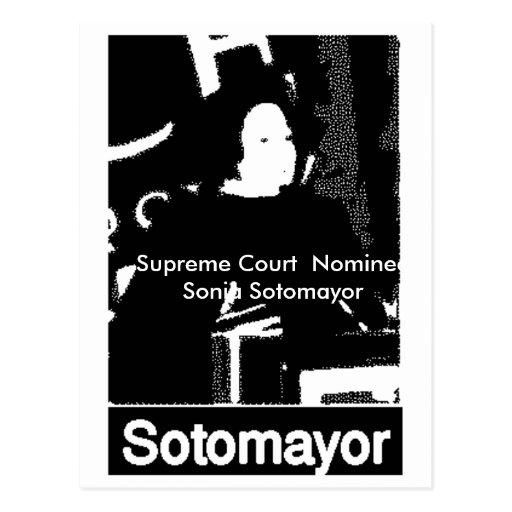 Candidato del Tribunal Supremo de Sonia Sotomayor Tarjetas Postales