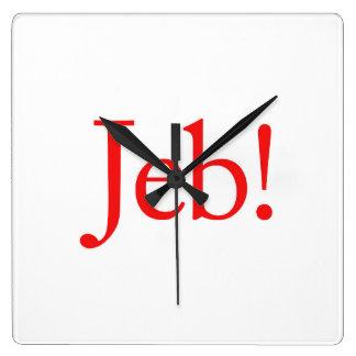 Candidato presidencial 2016 de Jeb Bush Reloj Cuadrado