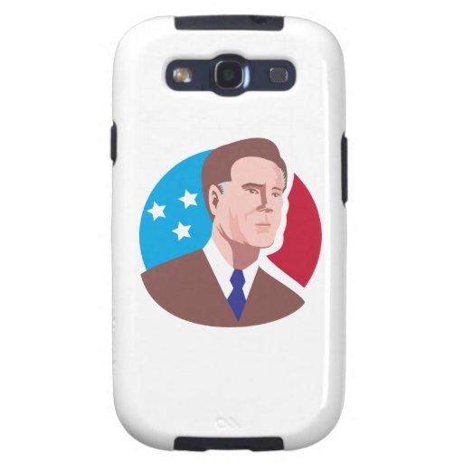 Candidato presidencial americano Mitt Romney retro Samsung Galaxy S3 Carcasas