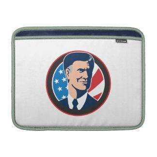 Candidato presidencial americano Mitt Romney retro Fundas MacBook
