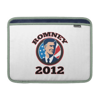 Candidato presidencial americano Mitt Romney retro Fundas Para Macbook Air
