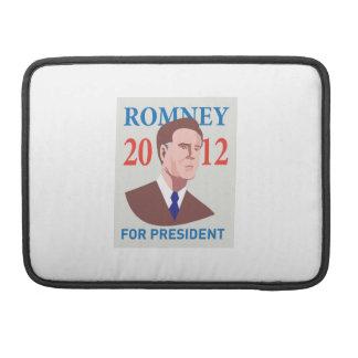 Candidato presidencial americano Mitt Romney retro Fundas Para Macbooks