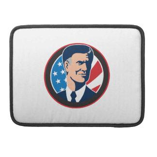 Candidato presidencial americano Mitt Romney retro Funda Para Macbook Pro
