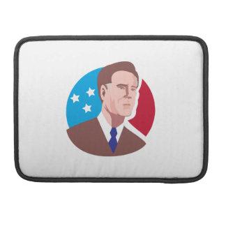 Candidato presidencial americano Mitt Romney retro Fundas Para Macbook Pro