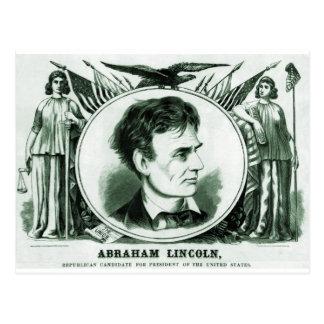 Candidato presidencial de Abraham Lincoln Tarjetas Postales