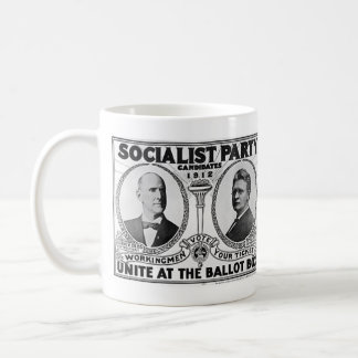 Candidatos 1912 del Partido Socialista Taza Básica Blanca