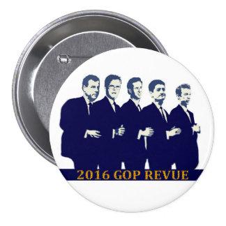 Candidatos presidenciales 2016 del GOP Pin Redondo 7 Cm