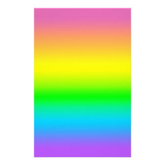 Candied Rainbow Pattern Scrapbook Sheets Stationery