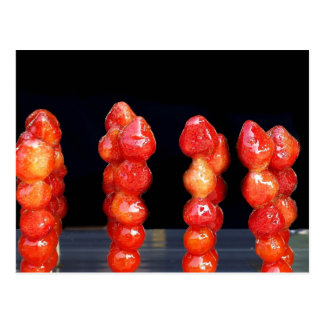 Candied Strawberry Skewers Post Card