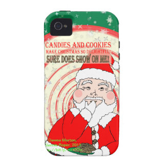 Candies and Cookies Funny Christmas Santa Case For The iPhone 4