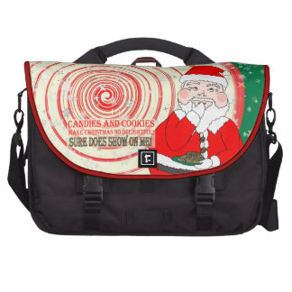 Candies and Cookies Funny Christmas Santa Laptop Bag