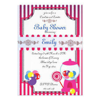 Candies and Sweets Baby Shower invitation