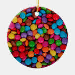Candies Double-Sided Ceramic Round Christmas Ornament