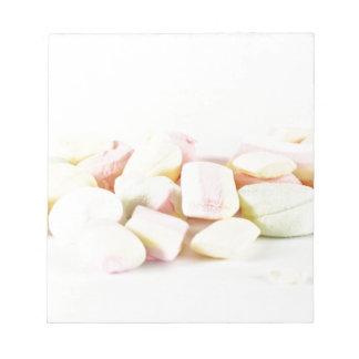 Candies marshmallows notepad