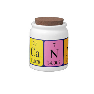 Candies periodic table word candy jar