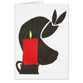 candle-1 tarjeta de felicitación