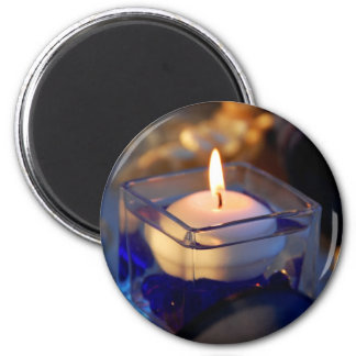 Candle 2 Inch Round Magnet