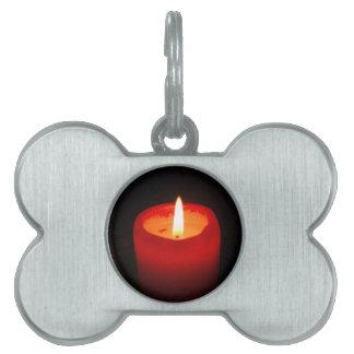 candle-789 placa de nombre de mascota