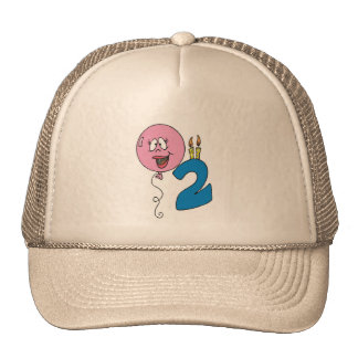 Candle and Balloon 2nd Birthday Trucker Hat
