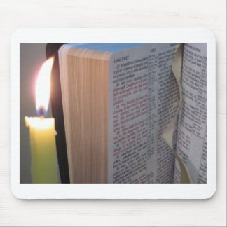 Candle and Bible Mouse Pad