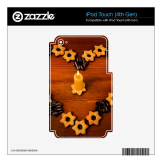 Candle and cookies. skins for iPod touch 4G
