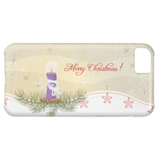 Candle and Evergreens Christmas iPhone 5C Covers