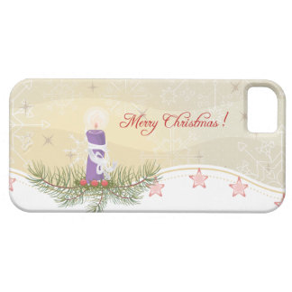 Candle and Evergreens Christmas iPhone 5 Case