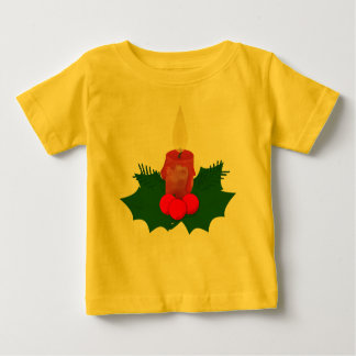 Candle And Holly Infant T-Shirt