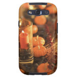 Candle and miniature pumpkins galaxy s3 cases