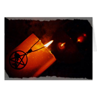 candle and pentacle cards
