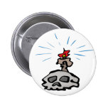 Candle and Skull Pinback Button