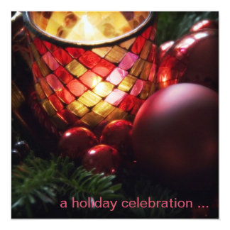 Candle & Baubles · Christmas Party Invitation