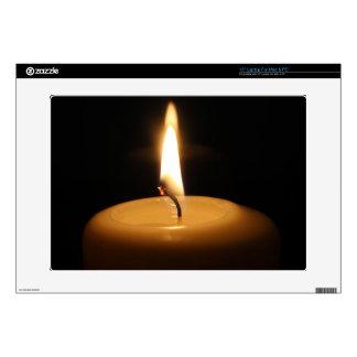 """Candle Burning Custom Skin 15"""" Laptop Skin"""