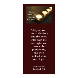 Candle Burning in a row Rack Card Template