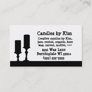Candle making business cards zazzle candle business cards colourmoves