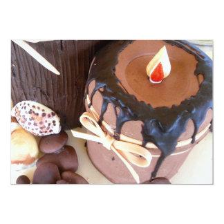 Candle cake invitations