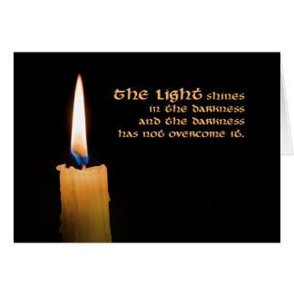 Candle Christmas Card (Welcome all wonders)