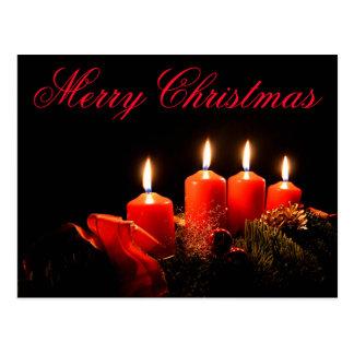 Candle Christmas Postcard