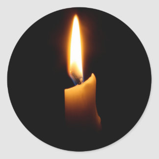Candle Classic Round Sticker