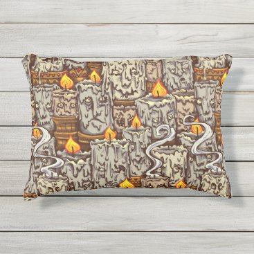 Halloween Themed Candle Creatures Pillow