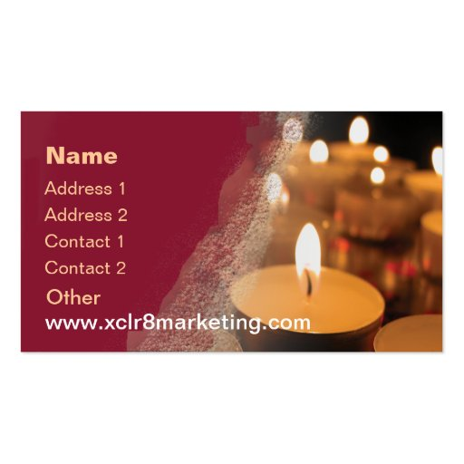 Product Line Card Template Word: Candle Customisable Template Business Card