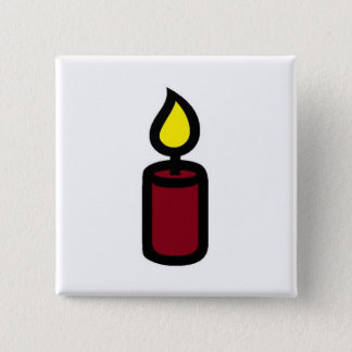 candle dark red button