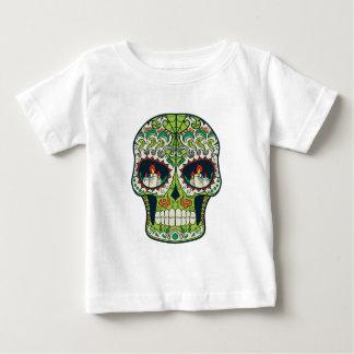 Candle Eyes Tattoo Mexican Sugar Skull Baby T-Shirt