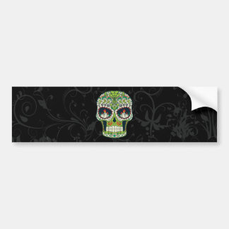 Candle Eyes Tattoo Mexican Sugar Skull Bumper Sticker