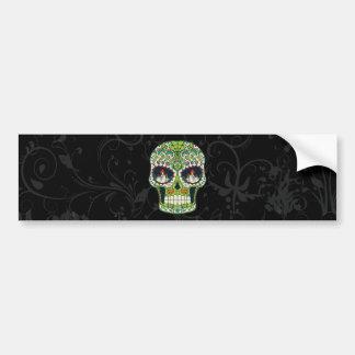 Candle Eyes Tattoo Mexican Sugar Skull Bumper Sticker